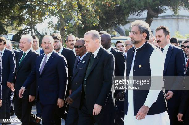 President of Turkey Recep Tayyip Erdogan President of Guinea Alpha Conde Prime Minister of Pakistan Shahid Khaqan Abbasi and Turkish Foreign Affairs...