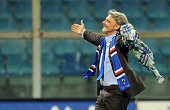President of UC Sampdoria Massimo Ferrero at the end of the Serie A match between UC Sampdoria and Parma FC at Stadio Luigi Ferraris on May 31 2015...