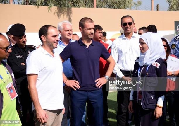 President of UEFA Aleksander Ceferin West Asian Football Federation President and Jordan Football Federation President Prince Ali bin alHussein and...