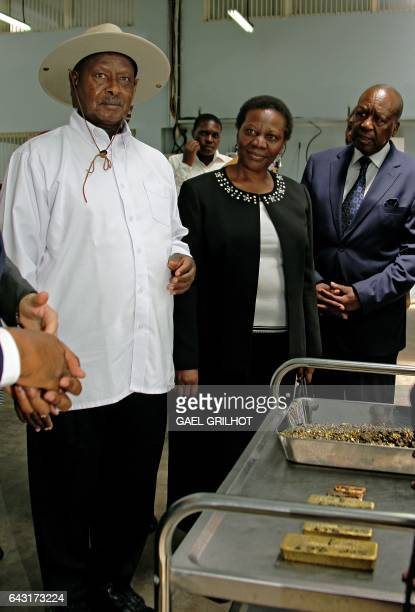 President of Uganda Yoweri Museveni Irene Muloni Minister of Energy and Minerals Development and Business development manager for AGR Alphonse...