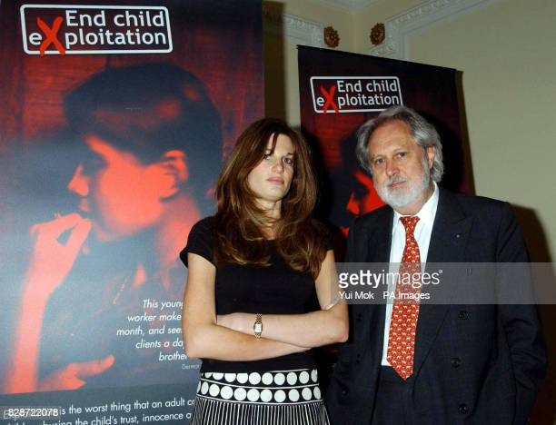President of Unicef Lord Puttnam and Jemima Khan one of the charity's Special Representatives at the launch of Unicef UK's End Child Exploitation...
