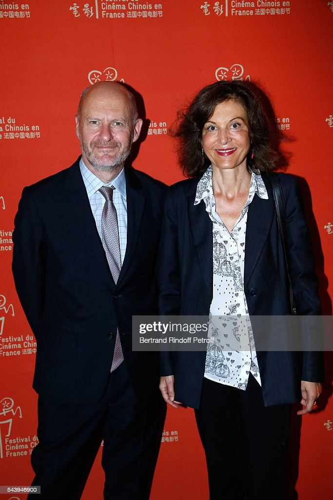 President of Unifrance, <a gi-track='captionPersonalityLinkClicked' href=/galleries/search?phrase=Jean-Paul+Salome&family=editorial&specificpeople=2488422 ng-click='$event.stopPropagation()'>Jean-Paul Salome</a> and Director <a gi-track='captionPersonalityLinkClicked' href=/galleries/search?phrase=Anne+Fontaine&family=editorial&specificpeople=601319 ng-click='$event.stopPropagation()'>Anne Fontaine</a> arrive at the 6th Chinese Film Festival