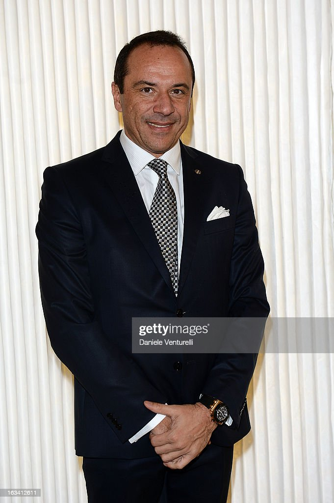 President of UNIPRO Fabio Rossello attends the 24th Accademia Del Profumo International Award 2013 at Teatro Manzoni on March 8, 2013 in Bologna, Italy.