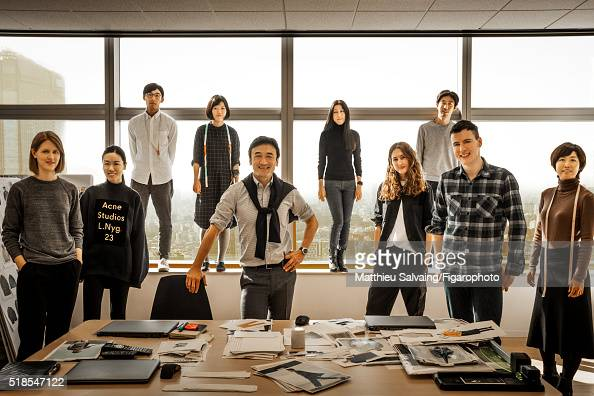 President of Uniqlo Yukihiro Katsuta and the research and development team are photographed for Madame Figaro on January 13 2016 in Tokyo Japan...