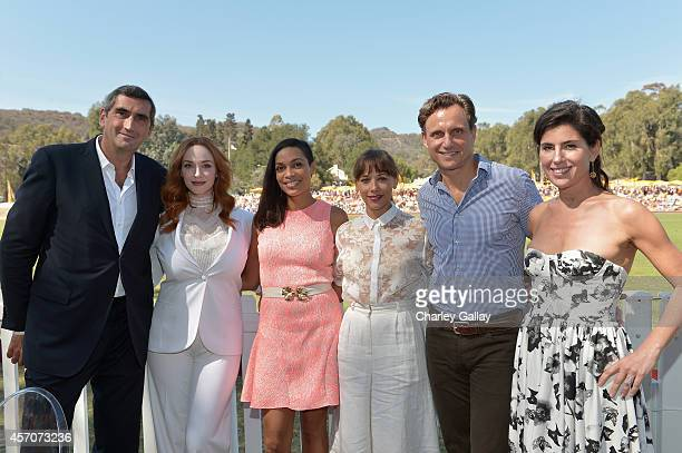 President of Veuve Clicquot JeanMarc Gallot actors Christina Hendricks Rosario Dawson Rashida Jones Tony Goldwyn and President of Veuve Clicquot USA...