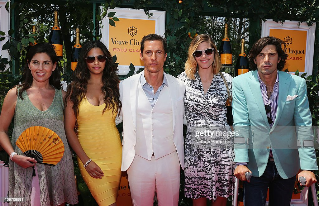 President of Veuve Clicquot US Vanessa Kay, Camila Alves, Matthew McConaughey, Nacho Figueras and Delfina Blaquier attend the sixth annual Veuve Clicquot Polo Classic on June 1, 2013 in Jersey City.