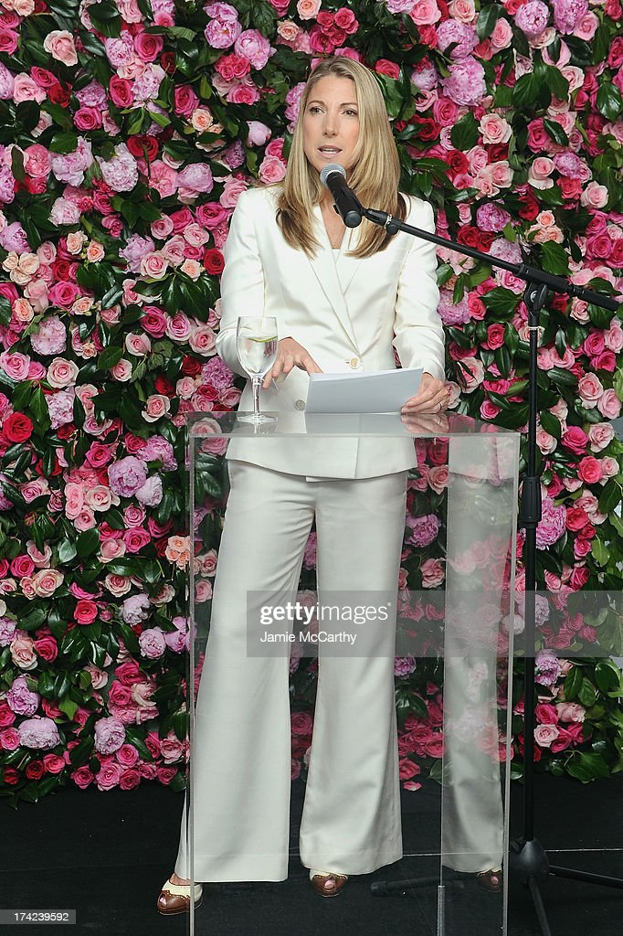 President of Victoria's Secret Beauty, Susie Coulter speaks onstage at the Victoria by Victoria's Secret Fragrance launch event at 620 Loft & Garden on July 18, 2013 in New York City.