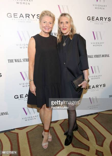 President of Visionary Women Shelley Reid and Grazka Taylor attend the Visionary Women's Salon Mind Body and Soul at Montage Beverly Hills on March...