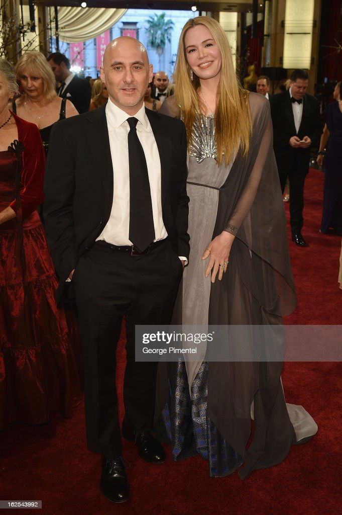 President of Warner Bros. Motion Picture Group Jeff Robinov (L) and Nicole Robinov arrive at the Oscars at Hollywood & Highland Center on February 24, 2013 in Hollywood, California.
