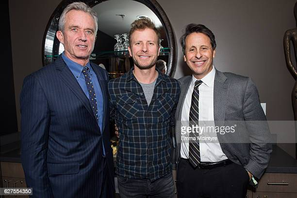 President of Waterkeeper Alliance Robert F Kennedy Jr musician Dierks Bentley and producer Bob Horowitz attend the 2016 Deer Valley Celebrity Skifest...