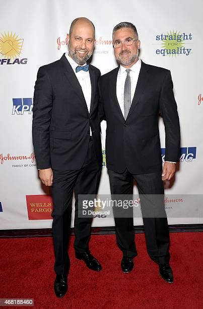 President of West Elm Jim Brett and Ed Gray attend the 7th Annual PFLAG National Straight For Equality Awards Gala at The New York Marriott Marquis...