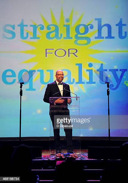 President of West Elm Jim Brett speaks onstage at the 7th Annual PFLAG National Straight For Equality Awards Gala at The New York Marriott Marquis on...