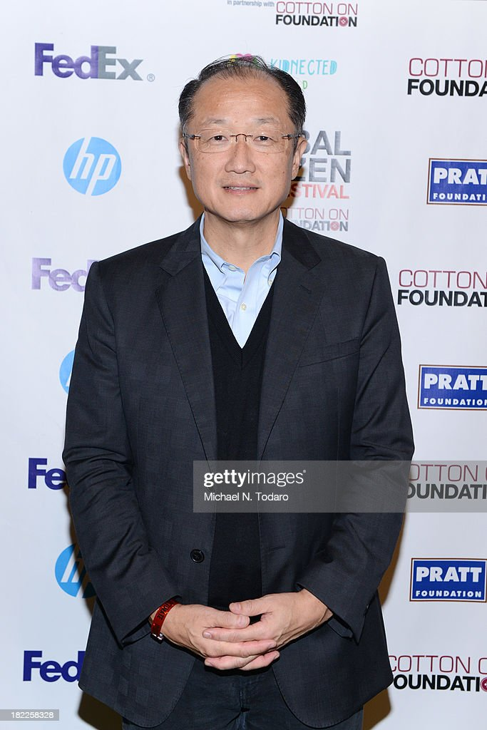President of World Bank Jim Yong Kim attends the 2013 Global Citizen Festival to end extreme poverty in Central Park on September 28 2013 in New York...