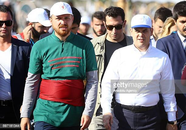 President of World Ethnosports Confederation Bilal Erdogan Youth and Sports Minister Akif Cagatay Kilic attend the 2nd day of Ethnic Sports Cultural...