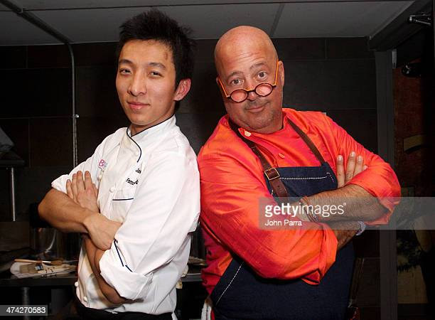 President of Xi'an Famous Foods Jason Wang and chef Andrew Zimmern host Intimate Asian Dinner with Chef Pai Sudarat Loasupho during the Food Network...