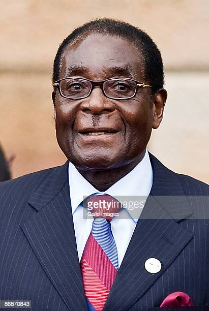 President of Zimbabwe Robert Mugabe attends the inauguration ceremony of Jacob Zuma on May 9 2009 in Pretoria South Africa Jacob Gedleyihlekisa Zuma...