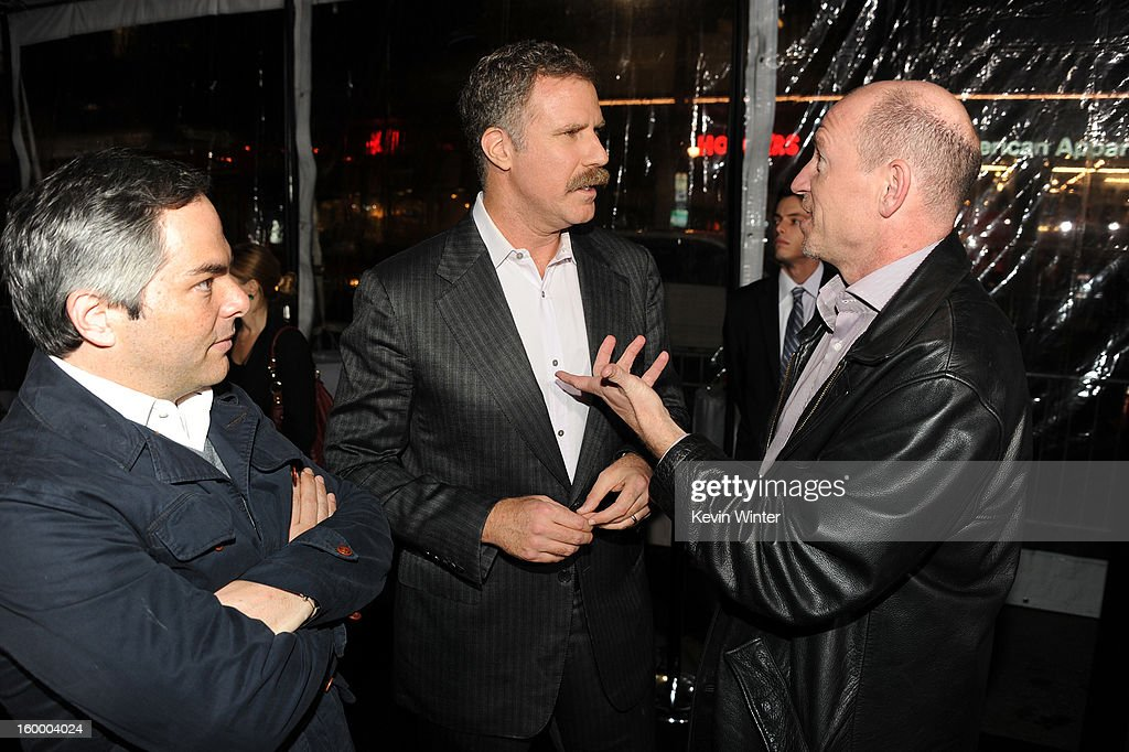 President/ Paramount Film Group Adam Goodman, actor/producer Will Ferrell and Vice Chairman of Paramount Pictures Corporation Rob Moore arrive for the Los Angeles premiere of Paramount Pictures' 'Hansel And Gretel Witch Hunters' at TCL Chinese Theatre on January 24, 2013 in Hollywood, California.