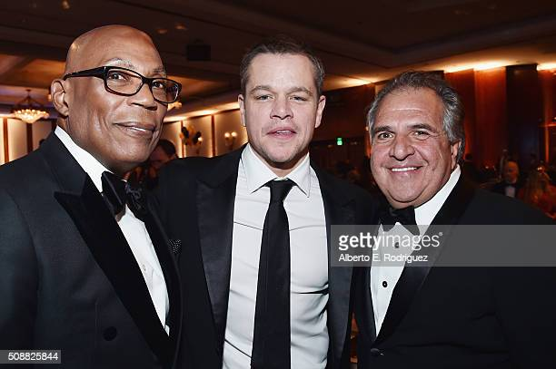 DGA President Paris Barclay actor Matt Damon and Fox Filmed Entertainment Chairman and Chief Executive Officer Jim Gianopulos attend the 68th Annual...