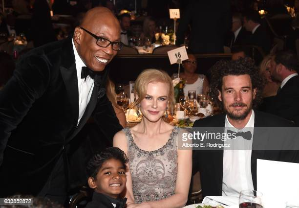 DGA President Paris Barclay actor Sunny Pawar actress Nicole Kidman and director Garth Davis attend the 69th Annual Directors Guild of America Awards...