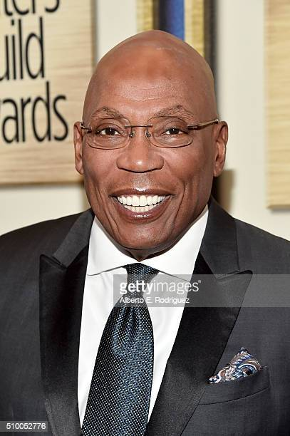 President Paris Barclay attends the 2016 Writers Guild Awards at the Hyatt Regency Century Plaza on February 13 2016 in Los Angeles California