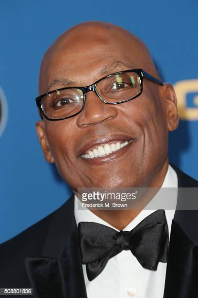 President Paris Barclay attends the 68th Annual Directors Guild Of America Awards at the Hyatt Regency Century Plaza on February 6 2016 in Los...