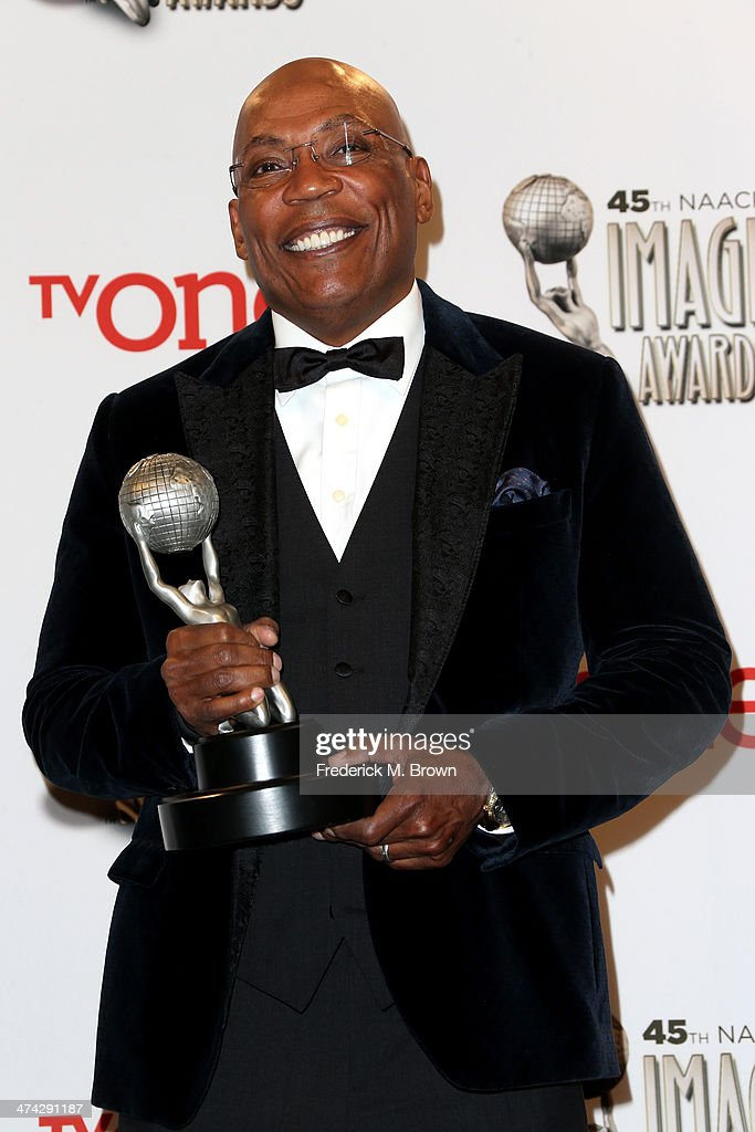 President <a gi-track='captionPersonalityLinkClicked' href=/galleries/search?phrase=Paris+Barclay&family=editorial&specificpeople=792316 ng-click='$event.stopPropagation()'>Paris Barclay</a>, NAACP Hall of Fame honoree, poses in the press room during the 45th NAACP Image Awards presented by TV One at Pasadena Civic Auditorium on February 22, 2014 in Pasadena, California.