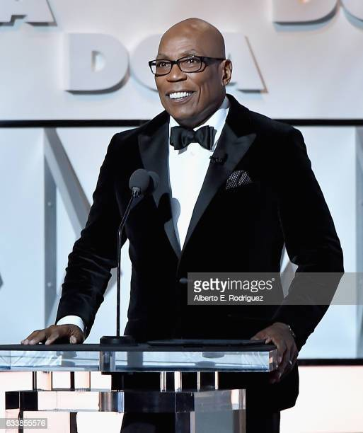 President Paris Barclay onstage during the 69th Annual Directors Guild of America Awards at The Beverly Hilton Hotel on February 4 2017 in Beverly...