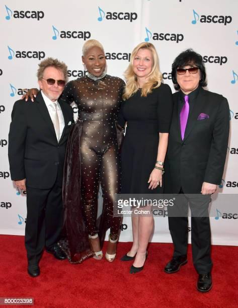 ASCAP President Paul Williams Lundon Knighten ASCAP CEO Elizabeth Matthews and EVP/ Membership ASCAP John Titta at the ASCAP 2017 Rhythm Soul Music...