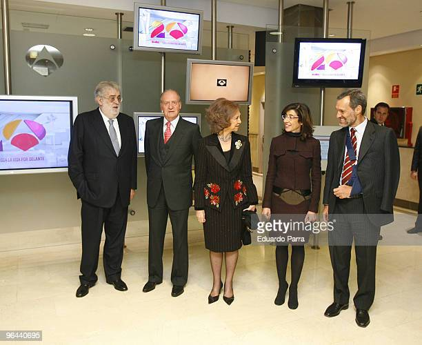 President Planet group Jose Manuel Lara King Juan Carlos I Queen Sofia Nieves Goicoechea and Silvio Gonzalez attend the 20th anniversary of Antena 3...