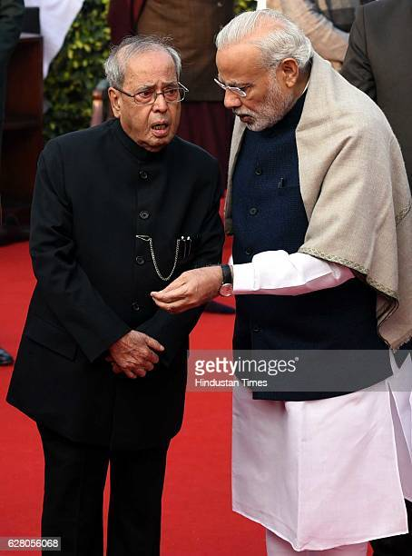 President Pranab Mukherjee Prime Minister Narendra Modi and other paying homage Dr B R Ambedkar on his death anniversary at parliament house complex...