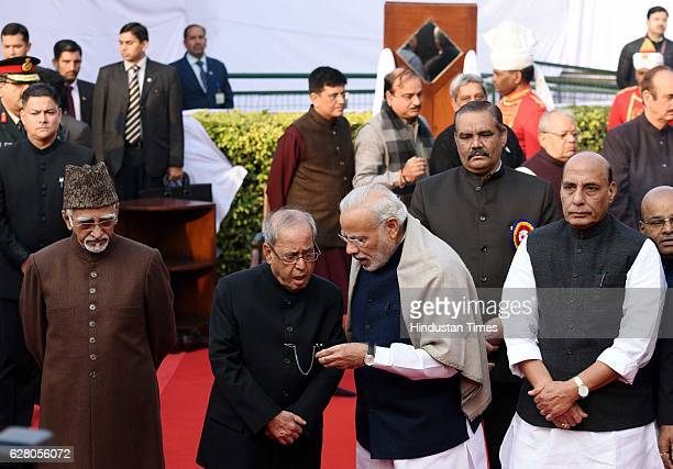 President Pranab Mukherjee Vice President Hamid Ansari Prime Minister Narendra Modi and other paying homage Dr B R Ambedkar on his death anniversary...