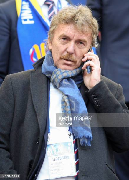 President PZPN Zbigniew Boniek during Polish FA Cup final match Arka Gdynia v Lech Poznan at the National Stadium in Warsaw Poland on 2 May 2017 Arka...