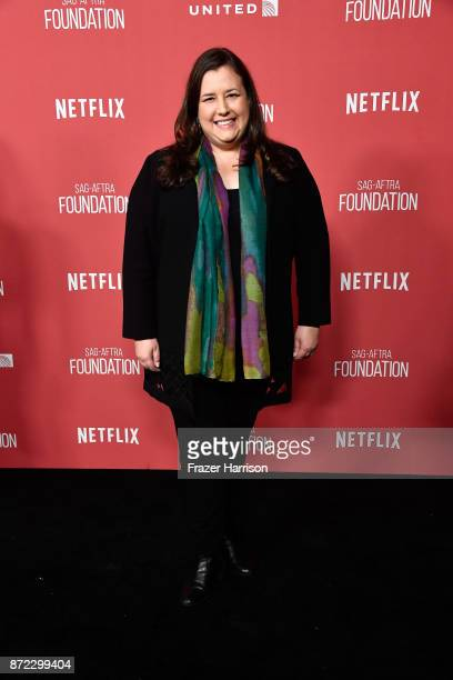 Y President Rebecca Damon attends the SAGAFTRA Foundation Patron of the Artists Awards 2017 at the Wallis Annenberg Center for the Performing Arts on...