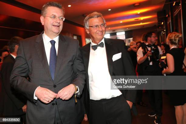 President Reinhard Grindel and Wolfgang Bosbach during the Toni Kroos charity gala benefit to the Toni Kroos Foundation at 'The Palladium' on June 9...