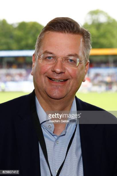 President Reinhard Grindel before the 3 Liga match between SV Meppen and 1 FC Magdeburg at Haensch Arena on August 1 2017 in Meppen Germany