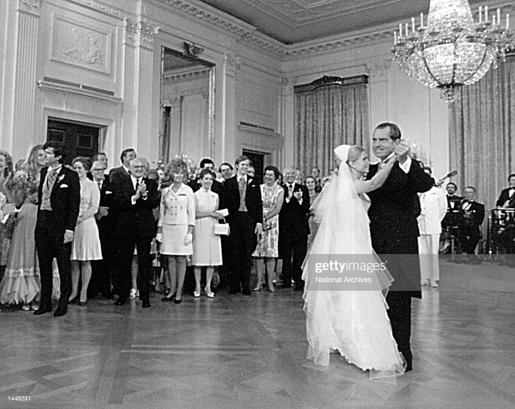 President <a gi-track='captionPersonalityLinkClicked' href=/galleries/search?phrase=Richard+Nixon&family=editorial&specificpeople=92456 ng-click='$event.stopPropagation()'>Richard Nixon</a> dances with his daughter, Tricia, during her wedding reception June 12, 1971 at the White House.