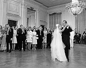 President Richard Nixon dances with his daughter Tricia during her wedding reception June 12 1971 at the White House