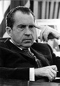 President Richard Nixon in the Oval office February 19 1970 in Washington DC