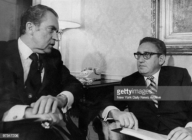 President Richard Nixon with National Security Advisor Henry Kissinger at the WaldorfAstoria