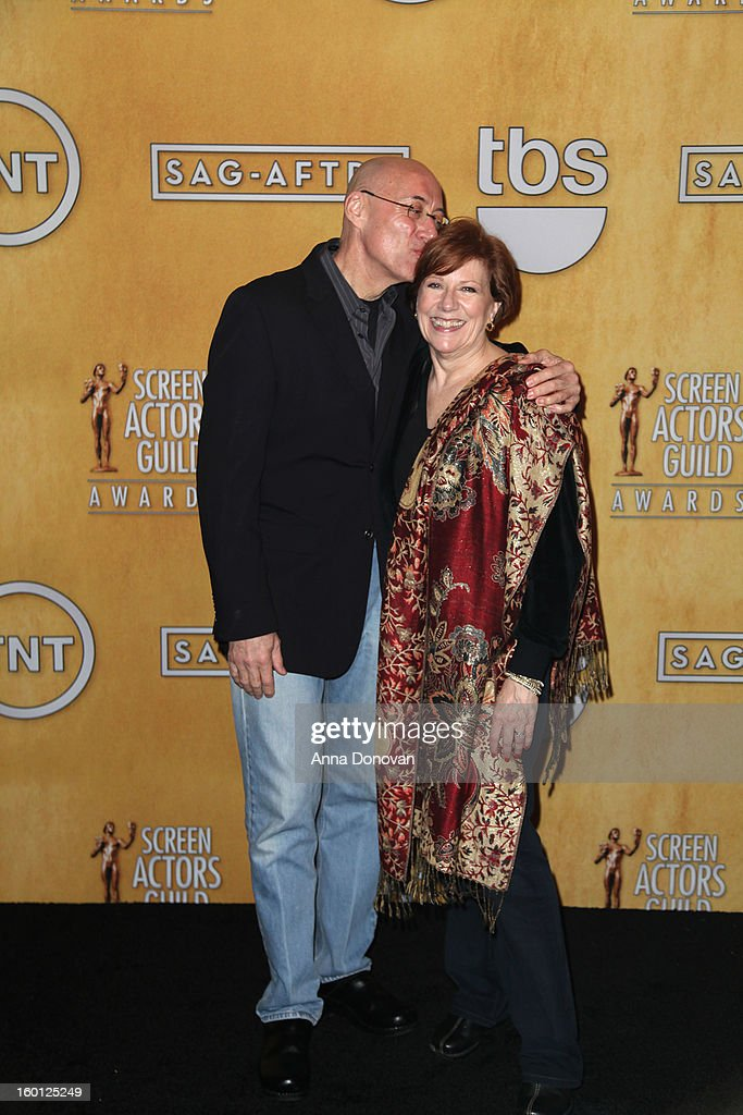 SAG-AFTRA president <a gi-track='captionPersonalityLinkClicked' href=/galleries/search?phrase=Roberta+Reardon&family=editorial&specificpeople=4401659 ng-click='$event.stopPropagation()'>Roberta Reardon</a> and her husband Walter Cline attend the Red Carpet Roll Out and presenter rehearsals for the 19th annual Screen Actors Guild Awards at The Shrine Expo Hall on January 26, 2013 in Los Angeles, California.