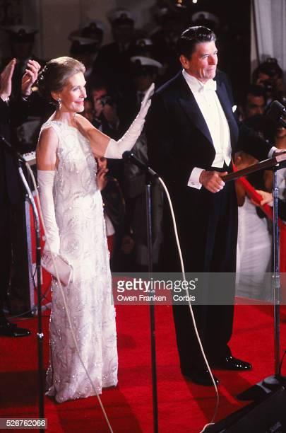 President Ronald and nancy reagan at Inaugural Ball