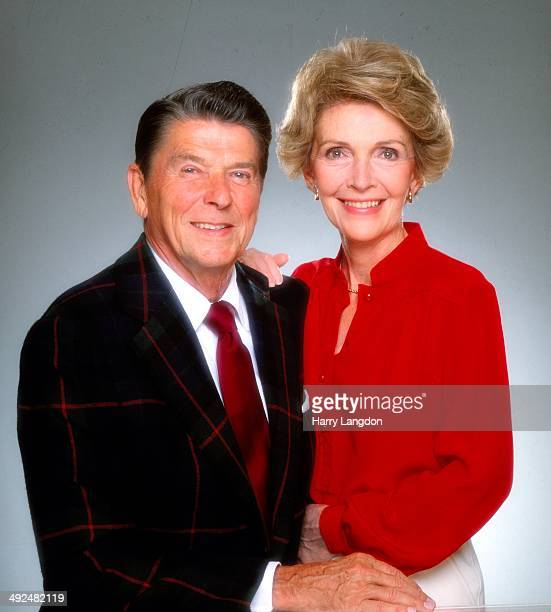 President Ronald Reagan and wife Nancy Reagan pose for a portrait in 1980 in Los Angeles California
