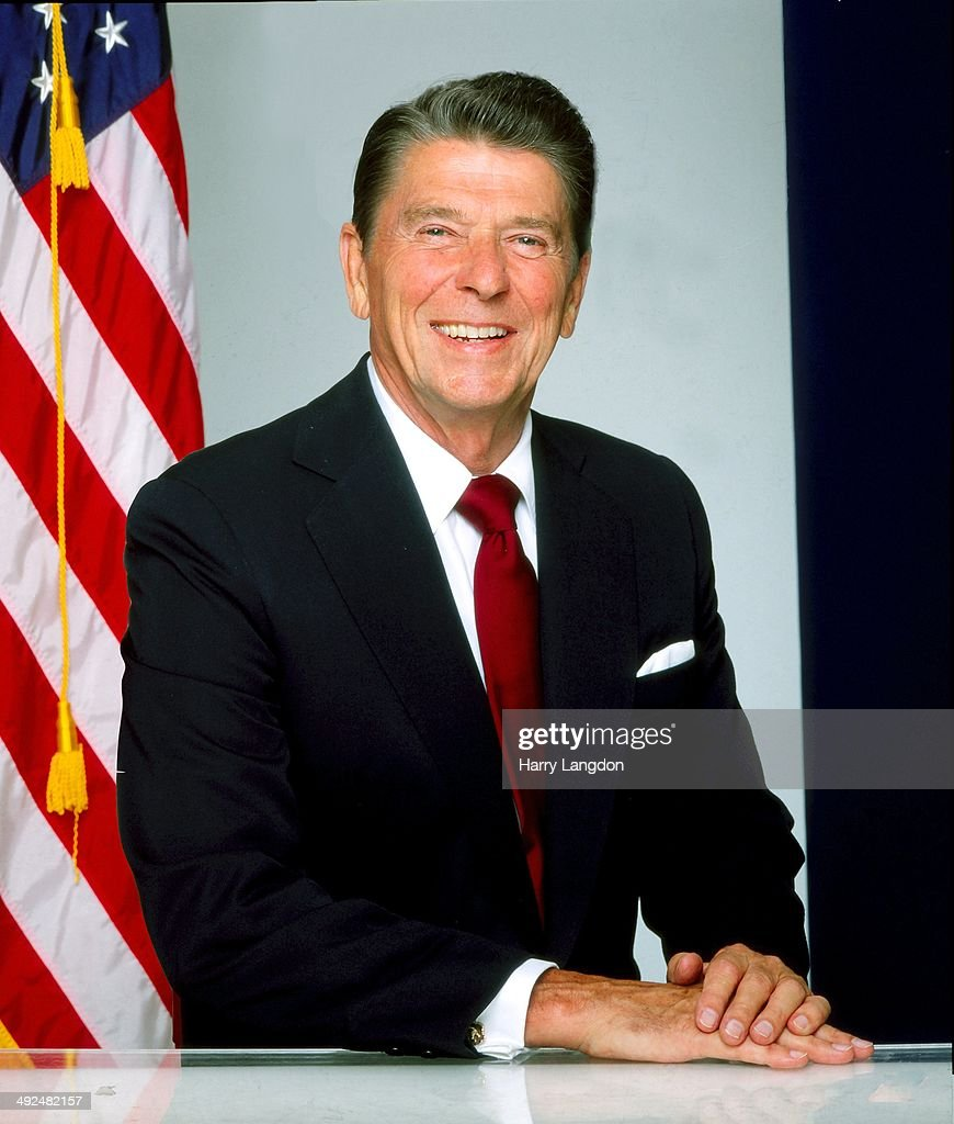 President Ronald Reagan poses for a portrait in 1980 in Los Angeles California