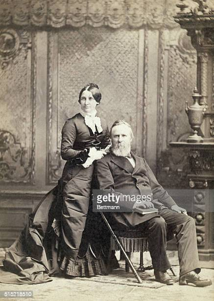 President Rutherford B Hayes and First Lady Lucy Ware Webb Hayes Photograph Ca 1870s1880s