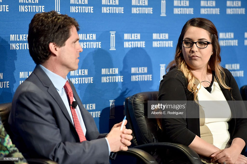 President, Save the Children Action Network Mark Shriver and advocate Jalyssa Alvarado speak onstage at the 2016 Milken Institute Global Conference on May 04, 2016 in Beverly Hills, California.
