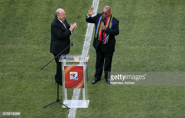 President Sepp Blatter and Jacob Zuma President of South Africa officially open the 2010 FIFA World Cup