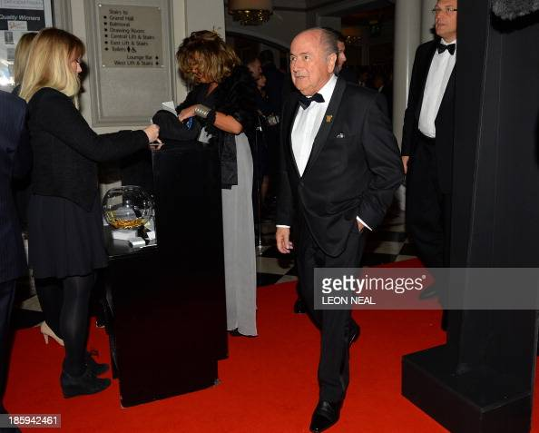 President Sepp Blatter arrives to attend The Football Association's 150th Anniversary Gala Dinner at the Grand Connaught Rooms in central London on...