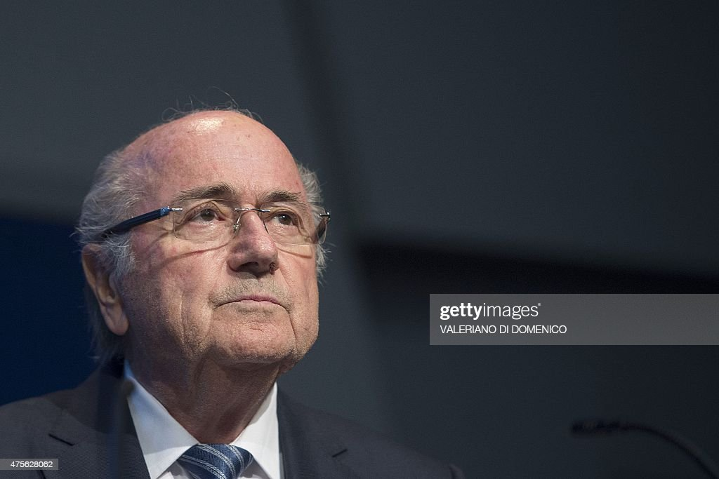 President <a gi-track='captionPersonalityLinkClicked' href=/galleries/search?phrase=Sepp+Blatter&family=editorial&specificpeople=209372 ng-click='$event.stopPropagation()'>Sepp Blatter</a> holds a press conference at the headquarters of the world's football governing body in Zurich on June 2, 2015. Blatter resigned as president of FIFA as a mounting corruption scandal engulfed world football's governing body. The 79-year-old Swiss official, FIFA president for 17 years and only reelected days ago, said a special congress would be called to elect a successor. AFP PHOTO / VALERIANO DI DOMENICO
