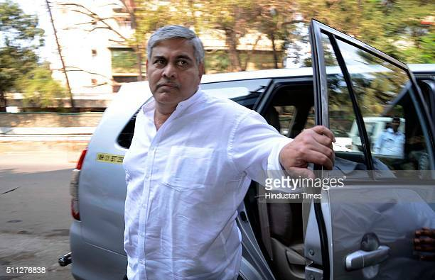 President Shashank Manohar arrives at BCCI head office for BCCI special general meeting at Church Gate on February 19 2016 in Mumbai India BCCI hold...