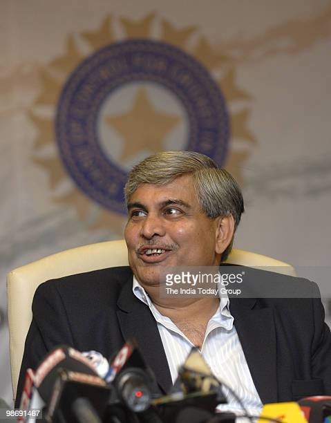 BCCI president Shashank Manohar at a press conference at the BCCI headquarters in Mumbai
